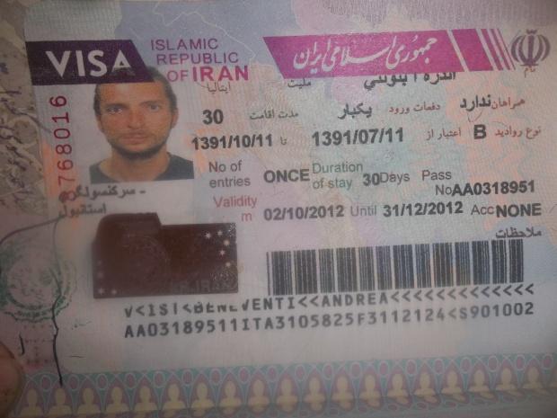 il visto dell'Iran
