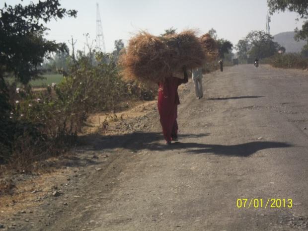 una donna in India