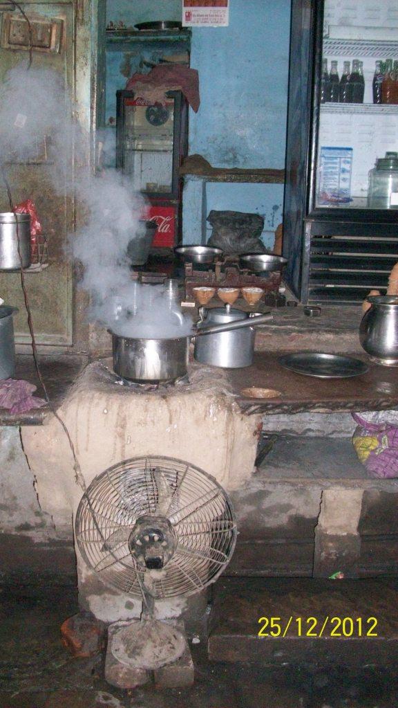 una cucina indiana
