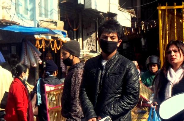aria irrespirabile a Kathmandu